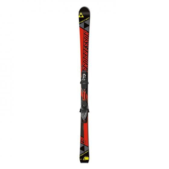 Skis alpins Fischer Progressor F18 pour hommes (Fixations incluses)