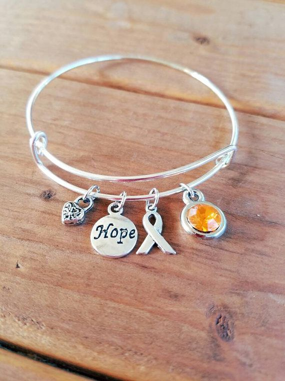 Check out this item in my Etsy shop https://www.etsy.com/listing/483971021/leukemia-awareness-silvertone-expandable