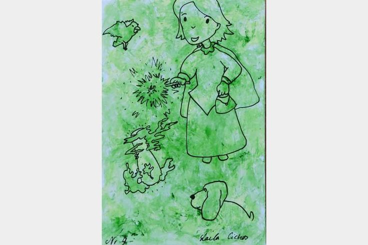 "Artmoney - unique piece of art doubling as a gift card ""Green money 9"""