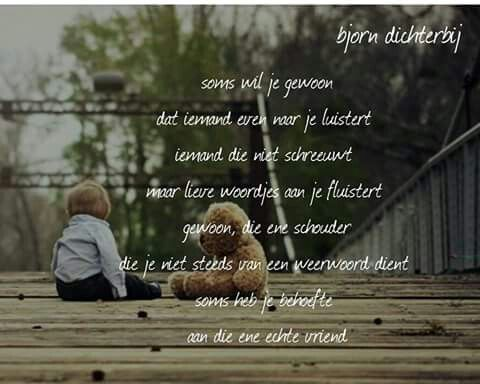 Soms wil je gewoon ...