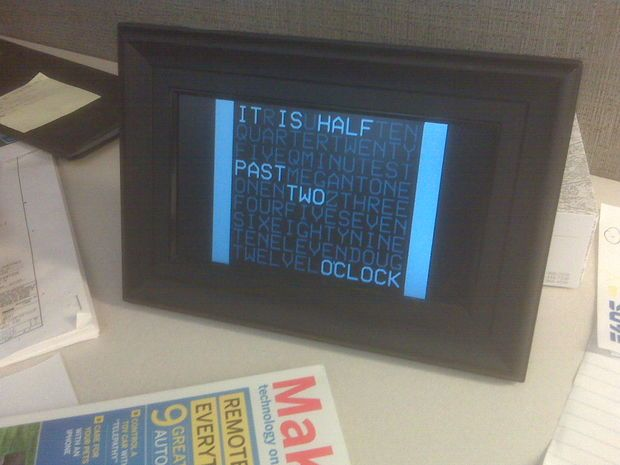 Instructions for DIGITAL WORD CLOCK FROM A CHEAP PHOTO FRAME