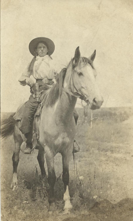Featured:  Picture the West  www.CowboyPoetry.comThis is Jennie Lovejoy, circa 1923, granddaughter of Chalmers Lovejoy, one of the earliest and largest pioneer ranchers in Cherry County.