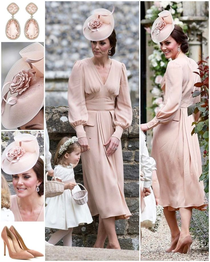 "6,500 Likes, 89 Comments - Catherine Duchess Of Cambridge (@katemidleton) on Instagram: ""The Duchess of Cambridge wore a bespoke dusty pink Alexander McQueen dress to Pippa's wedding…"""