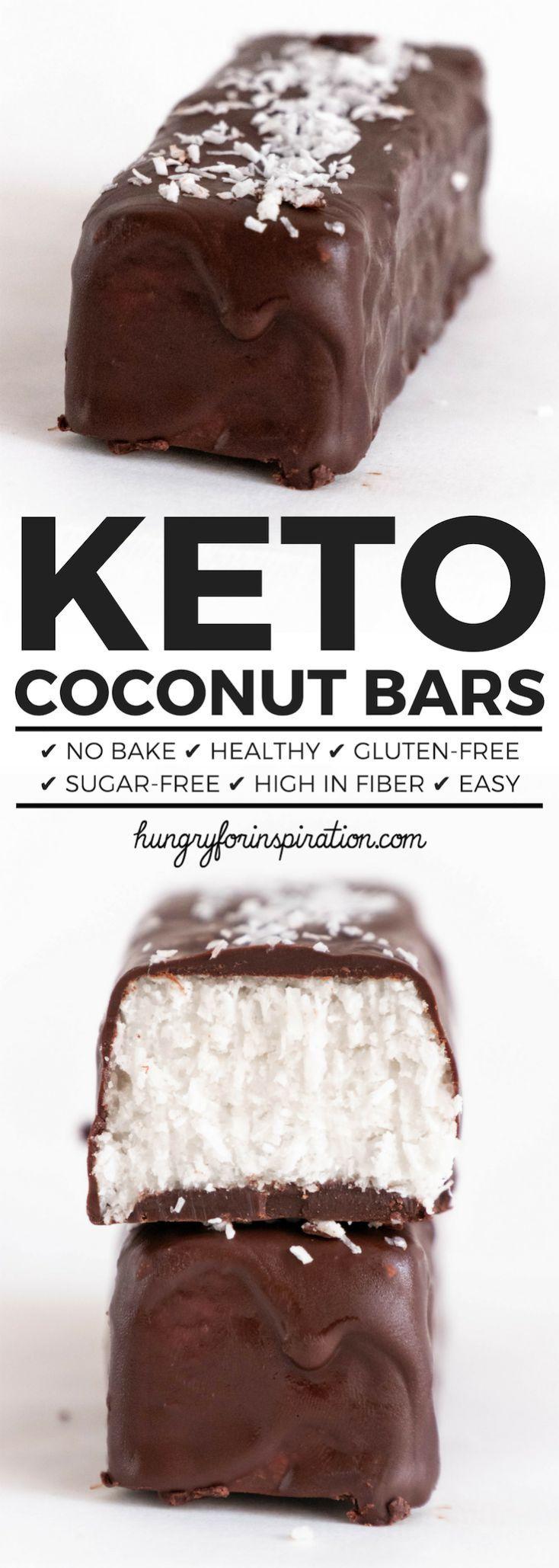 Healthy No Bake Keto Coconut Bars (hausgemachte Mounds Bars / hausgemachte Bount…