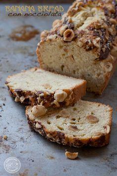 Banana bread con nocciolata e nocciole