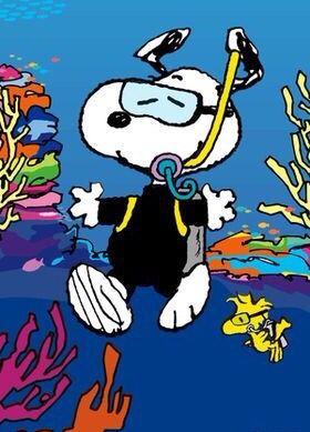 Snorkeling Snoopy