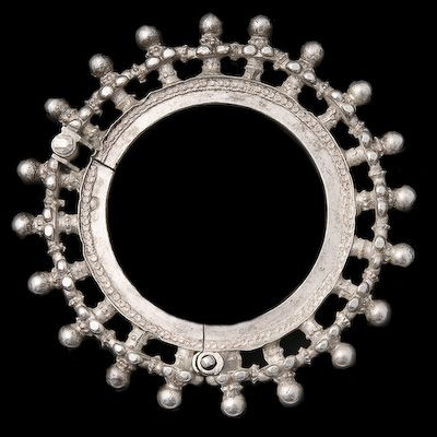 Silver Bracelet, Rajasthan, India, Circa early 20th Century