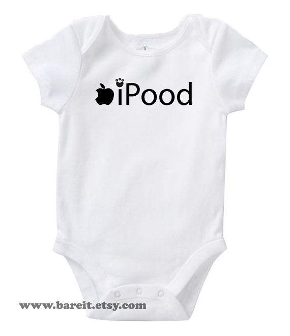 Ipood Inspired By Apple Cute Baby Humor Funny Onesie