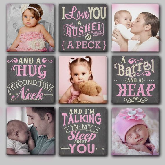 Custom Canvas Collage for Nursery Typography by DesignerCanvases, I love you a bushel and a peck and a hug around the neck! Plus you can replace photos for as little as $20.00!!!! Must get this in the future!