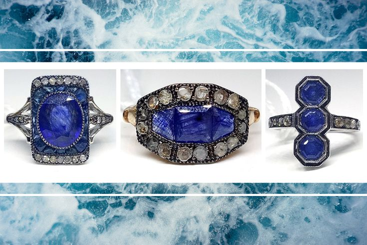Sterling Silver Art Deco Style Sapphire and Diamond rings featuring centre oval cut vivid blue Sapphires 😍 http://www.lloyds.ws/f/7888/a?utm_content=buffer72fb1&utm_medium=social&utm_source=pinterest.com&utm_campaign=buffer
