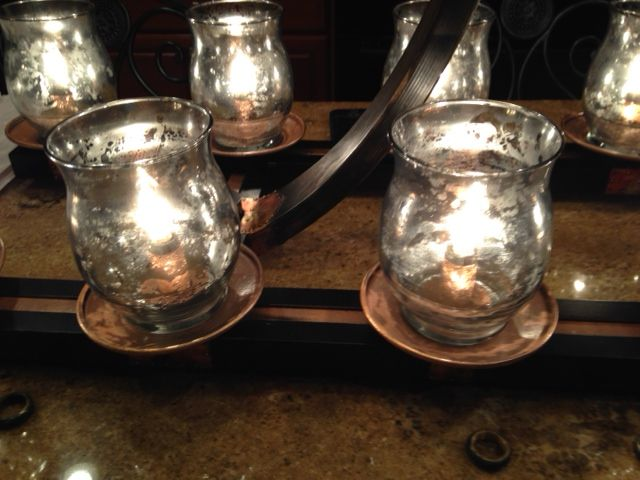 DIY mercury glass with looking glass paint Bought the