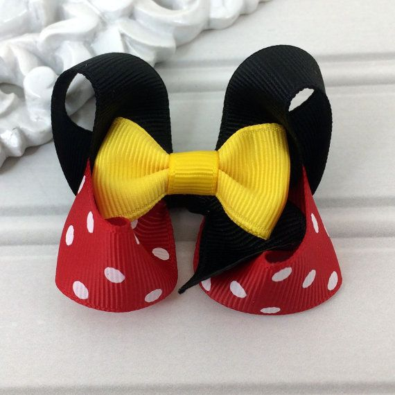 Mouse Girl Hair Bow by cococamila on Etsy, $4.50