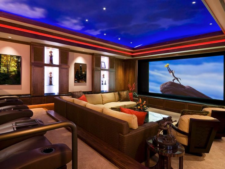 Attractive Awesome Home Theater Interior Design Part 17