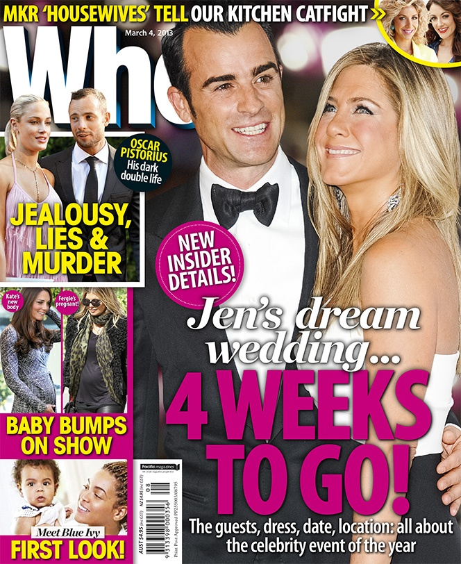 Jennifer Aniston's Dream Wedding: 4 Weeks To Go!