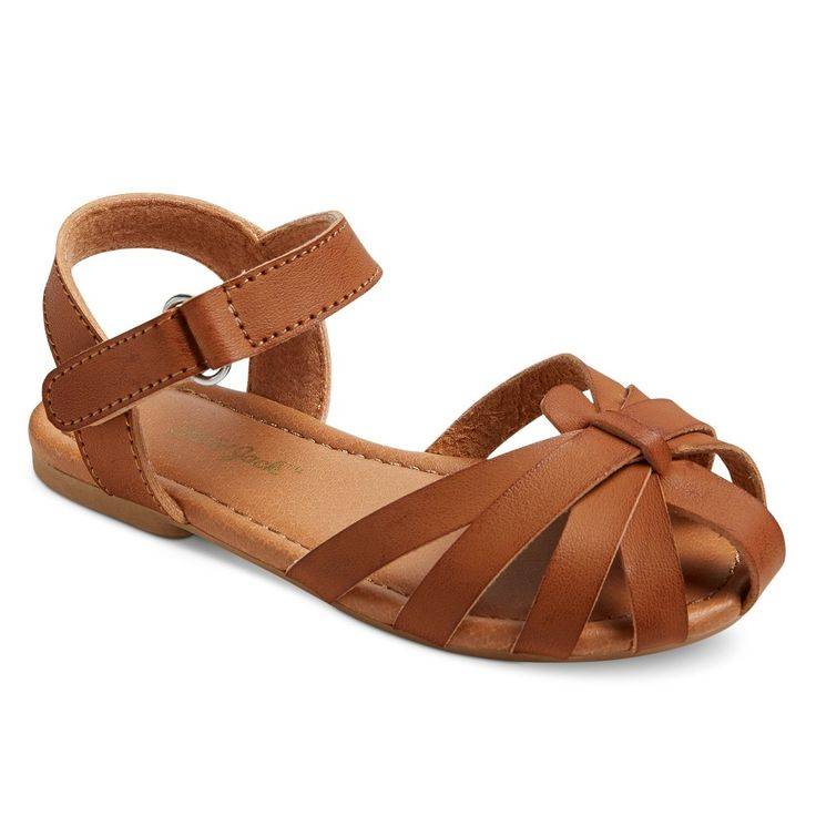 Toddler Girls' Oriel Two Piece Huarache Sandals Cat & Jack - Brown 8, Toddler Girl's