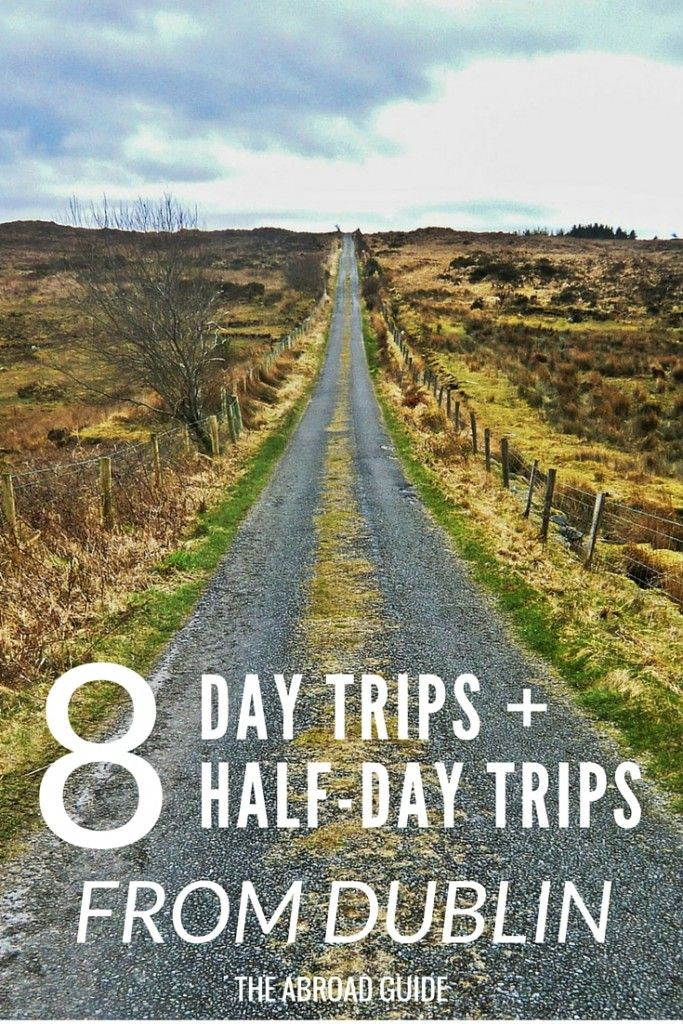 Day and Half Day Trips to Take From Dublin - If visiting Dublin while studying abroad or just traveling in Ireland then check out these 8 places to visit for great day trip or half day trip options. Get out of Dublin with a day trip into Ireland.