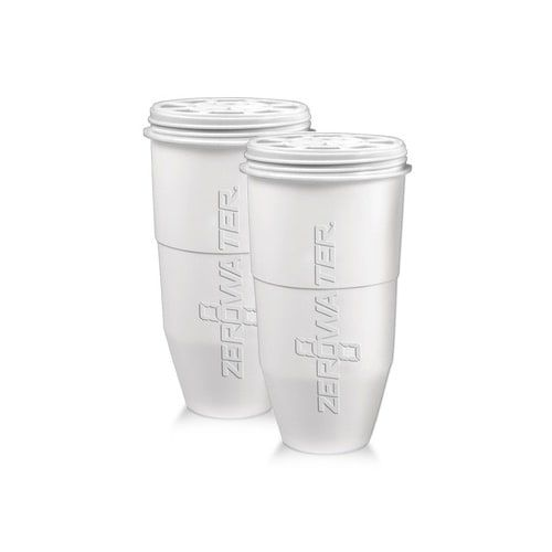 Zero Water Replacement Filters 5 Stage Dual Ion Exchange Filters - (2 Pack) New, Silver aluminum