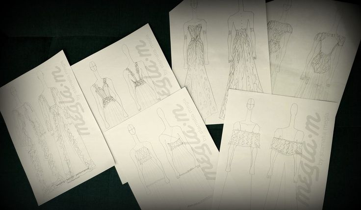 Wedding Dresses mean nothing unless someone lives in them #custommade #surmesure #sketches #becreative #bridal #meglam