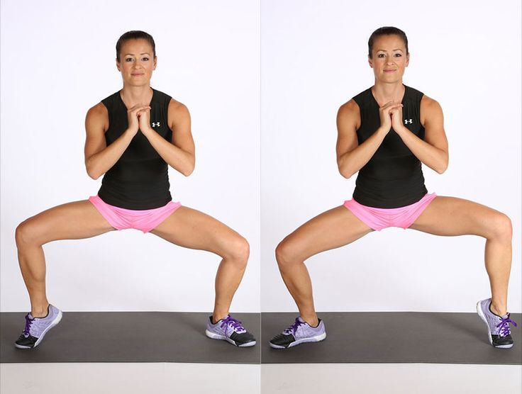 Lower Body: Wide Squat With Calf Raise :: fitsugar plyometric routine