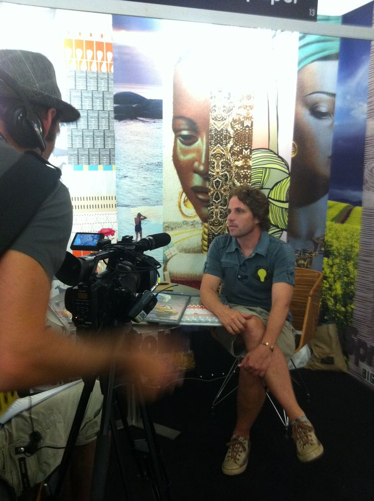 Director of RSW, Robin Sprong, being interviewed at Design Indaba
