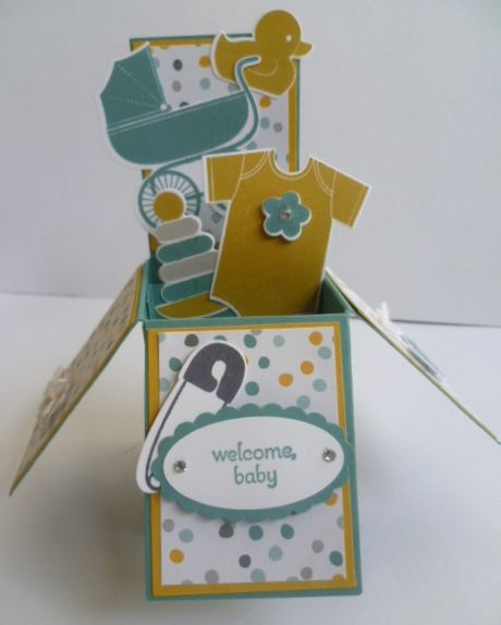 "Baby 'Card in a Box' using Stampin' Up! ""Something for Baby"". http://astampingjourney.wordpress.com/2014/06/23/something-for-baby-card-in-a-box/"