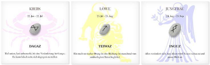 Runen Tageshoroskop 24.2.2017 #Sternzeichen #Runen #Horoskope #krebs #löwe #jungfrau