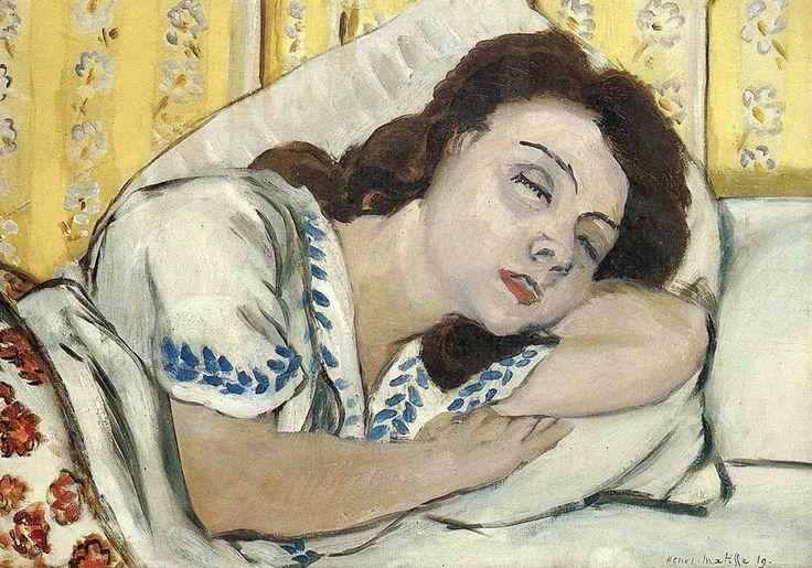 Henri Matisse - Portrait of Marguerite Sleeping, 1920 #arte