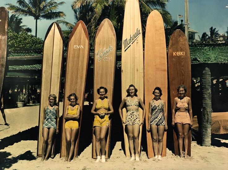 Surf boards vintage