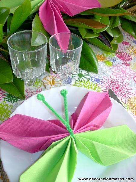 Decoracion de mesas: Mesa cumpleaños de mariposas