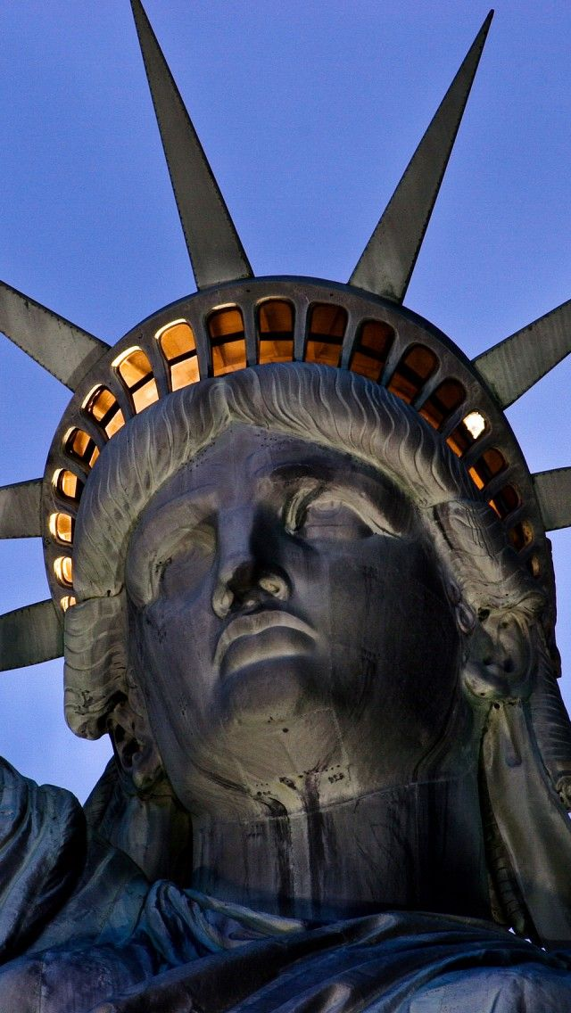 Statue of Liberty, United States of America, New York City iPhone 5 wallpapers, backgrounds, 640 x 1136