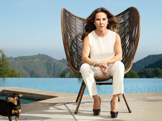 Kate del Castillo at home in Los Angeles. After she tweeted about El Chapo, the drug lord got in touch and asked her to make a movie about his life.