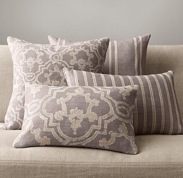 Baroque Medallion Pillow Collection - Fog - Bedroom pillows?