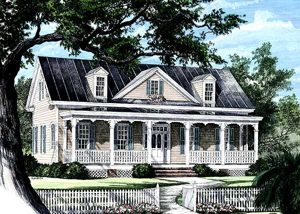 Cozy Country Home Plan - 32445WP | Country, Southern, Narrow Lot, Photo Gallery, 1st Floor Master Suite, Bonus Room, PDF, Corner Lot | Architectural Designs