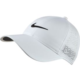 For optimal airflow this season, reach for the unique Nike® Perforated Golf Hat to stay cool when the temperature heats up. The perforated design on the back panels provides unbeatable ventilation, and the moisture wicking Dri-FIT® fabrication further boosts comfort by managing perspiration. The front features the classic Nike® Swoosh®, and the adjustable back closure lets you customize the fit to the perfect size.