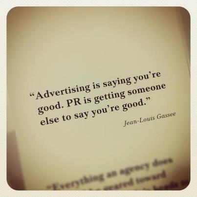 Mocht je het verschil nog niet weten tussen Adverteren en  Public Relations....