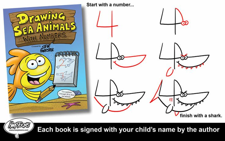 Learn how to draw sea animals using numbers 2 20 plus order now and
