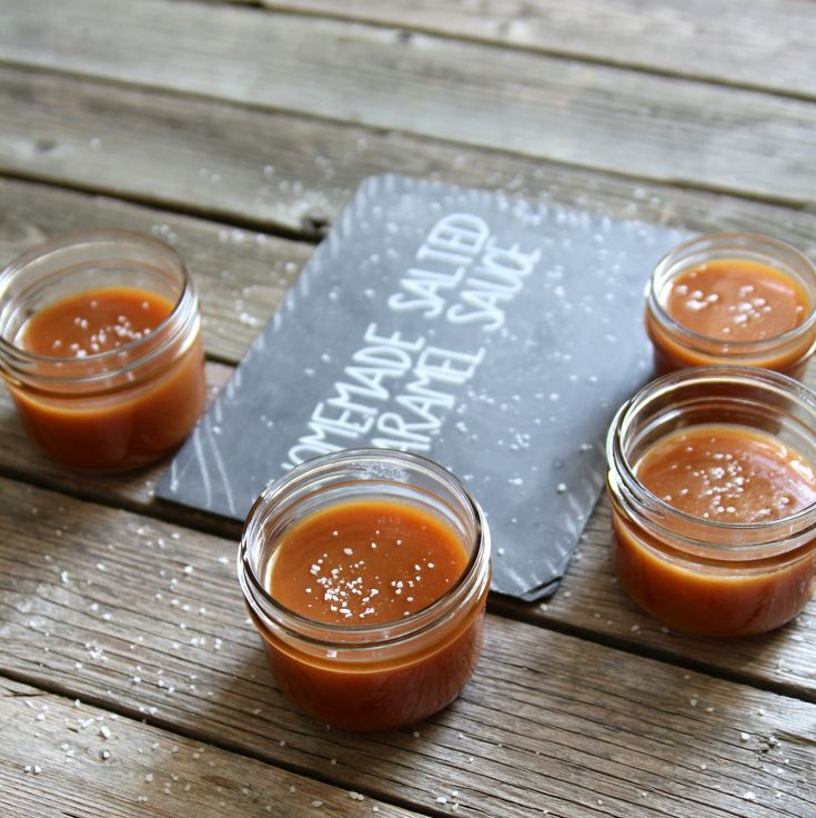 Yummy salted caramel sauce recipe. This will be handy for this fall when it's apple season! ;)