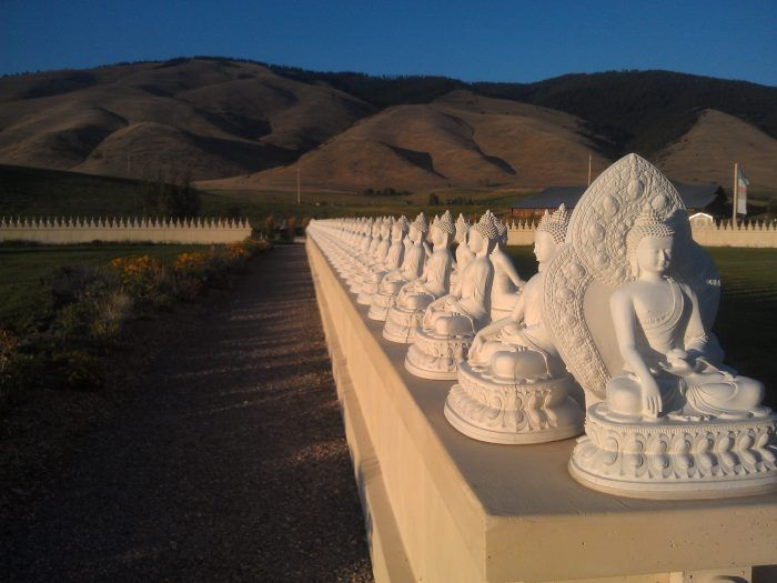 5. The Garden of 1,000 Buddhas in Arlee
