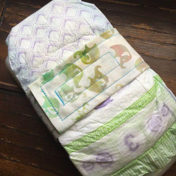Little Elephant Diaper Strap / Diaper Holder by PurpleBowFox