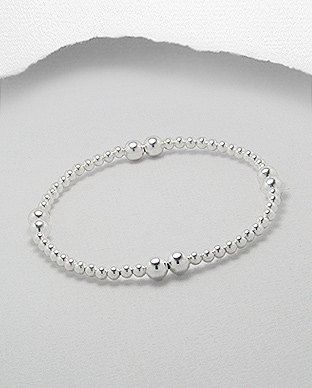 Sterling 925 Silver Ball Bracelet by SunshineNShowers on Etsy, £18.00