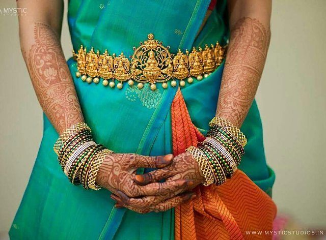 """ezwed (@ezwed.in) on Instagram: """"Beautiful waist belt to inspire for your Big Day ❤ love this beautiful temple jewelry captured…"""""""