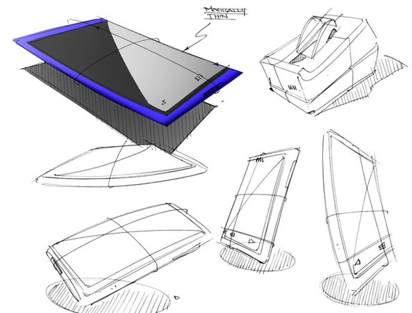 Design sketch of HTC phone