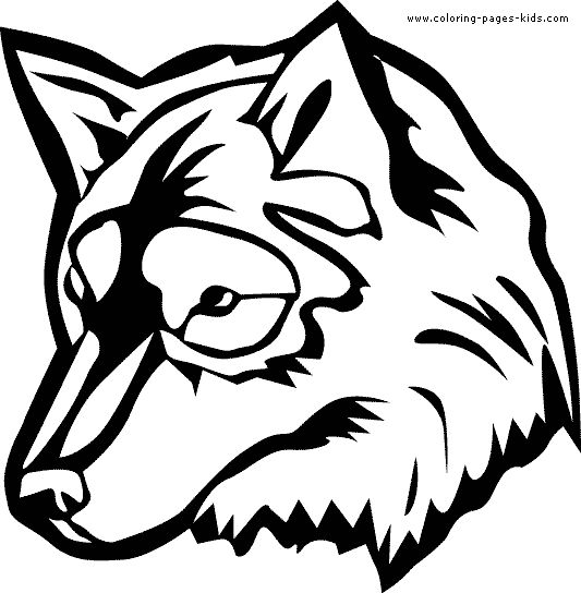Free Printable Coloring Wolf Pictures