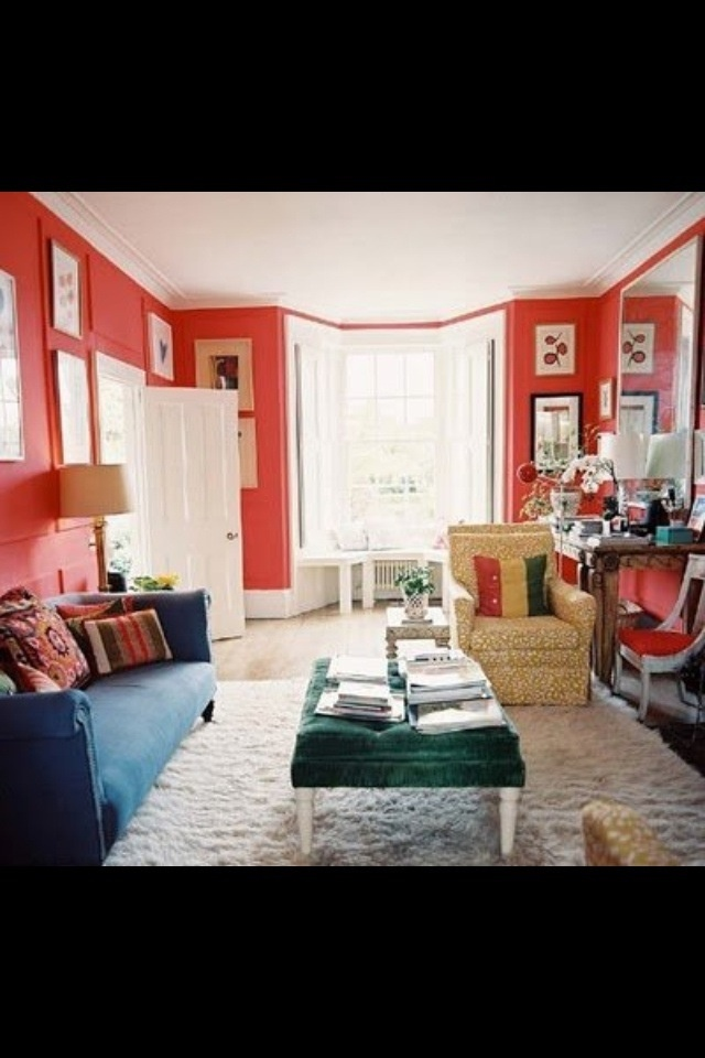 63 best images about coral walls on pinterest paint for Coral walls living room
