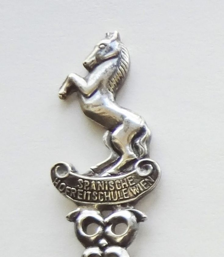 Collector Souvenir Spoon Austria Vienna Spanische Hofreitschule Wien Horse