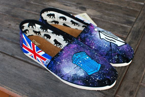 Dr. Who Galaxy TOMS by BStreetShoes on Etsy, $149.00