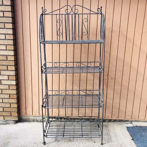 Metal Collapsible Bakers Rack Kitchen Shelf Bakers Rack