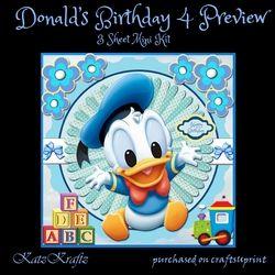 Donalds Birthday 4 mini kit on Craftsuprint - View Now!