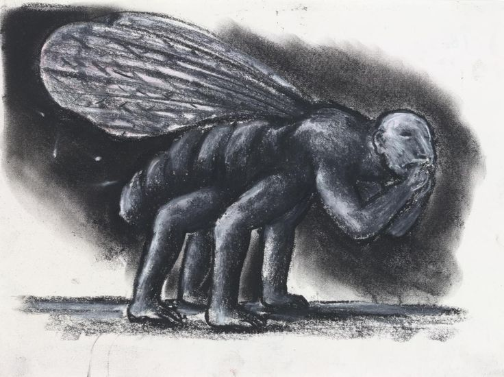 https://www.google.com/search?q=Peter booth Drawing (hybrid man / insect with four legs) (1982). Peter BOOTH