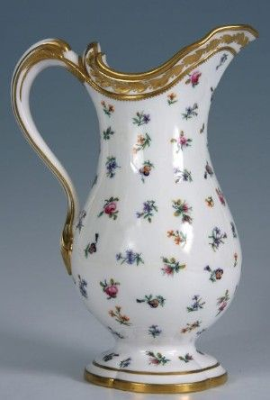 Sevres rose ewer, Courtesy H & E Manners: Ceramics and Works of Art, http://www.europeanporcelain.com/